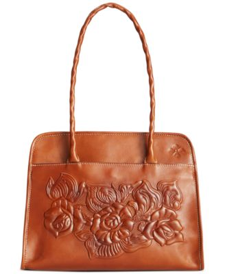 Patricia Nash Large Tooled Rose Paris Satchel Handbags