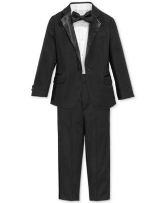 Nautica 4 Piece Tuxedo Suit Shirt Amp Bowtie Little Boys