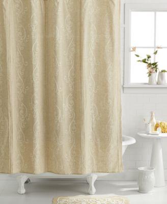 Lenox Bath Accessories French Perle Shower Curtain Bathroom Accessories Bed Amp Bath Macys
