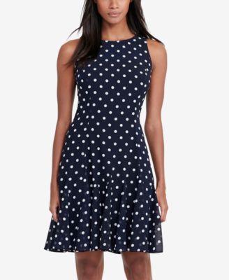 Lauren Ralph Lauren Polka Dot Fit Amp Flare Dress Dresses