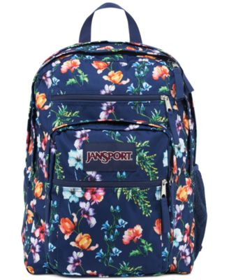 Jansport Big Student Backpack In Multi Navy Mountain