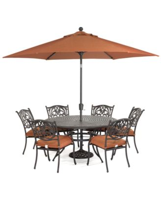 Chateau Outdoor Cast Aluminum 7 Pc Dining Set 60 Round