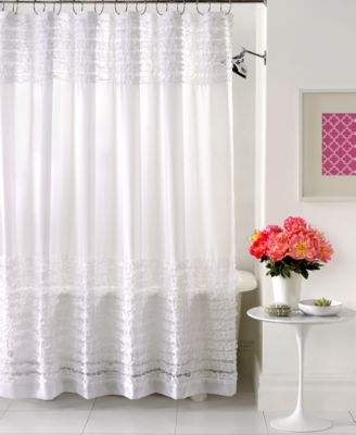 Creative Bath Accessories Sheer Ruffles Shower Curtain Shower Curtains Amp Accessories Bed