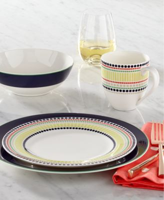 Kate Spade New York Dinnerware Hopscotch Drive Navy Collection Dinnerware Dining