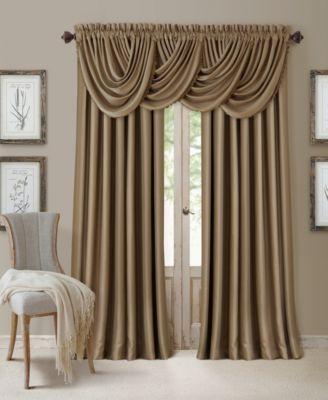 Elrene All Seasons Faux Silk Blackout Window Panel Collection Macys