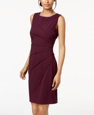 Calvin Klein Sunburst Sheath Dress Dresses Women Macys