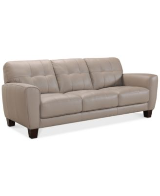 Couches and Sofas   Macy s Kaleb 84  Tufted Leather Sofa  Created for Macy s