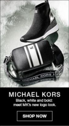 Michael Kors, Black, white and bold: meet Mk's new logo look, Shop Now