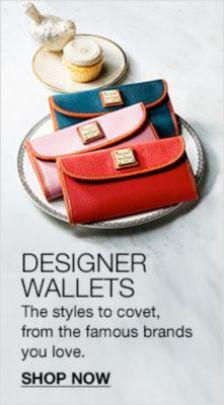 Designer Wallets, Shop Now