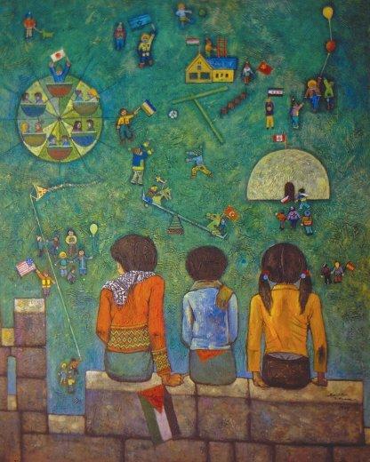 Children of Jerusalem - Sliman Mansour