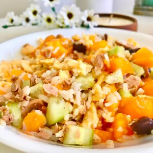 High Protein Rice Salad