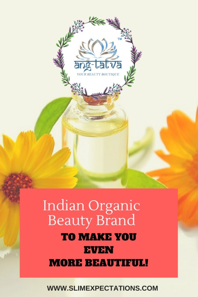 Organic Beauty Boutique solution: A bottle with flowers and the brand Angtatva