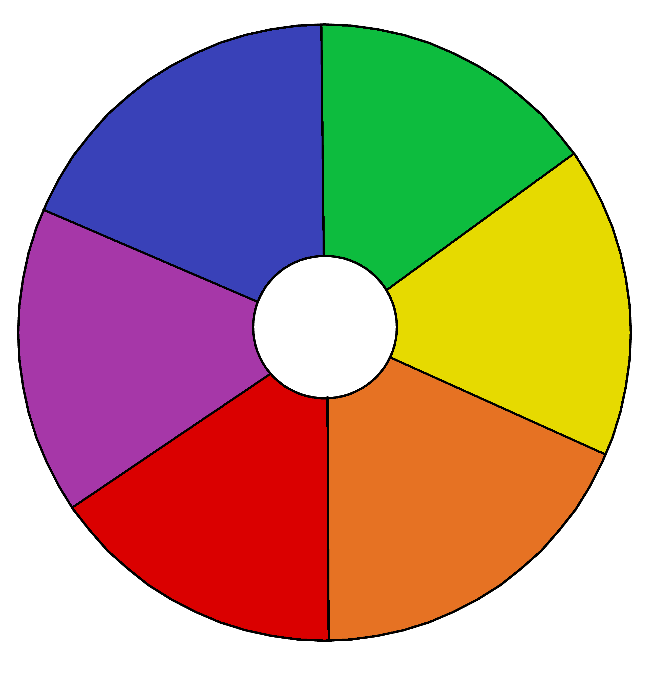 Primary And Secondary Color Wheel Template
