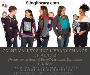 Colne Valley Sling Library 4th Trimester Workshop - Acorn & Pip, Slaithwaite @ Acorn & Pip | Golcar | England | United Kingdom