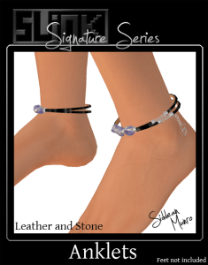 JP Leather and Stone Anklets ad