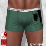 Slink - Male Boxers - Green Splash