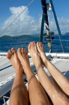 relax on charter yacht