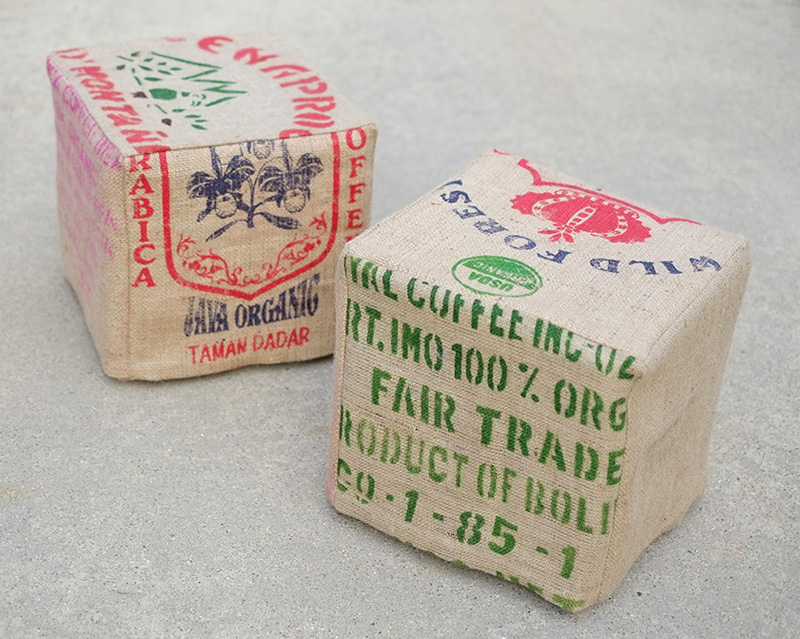 Coffee Bean Jute Bag Slipcovers