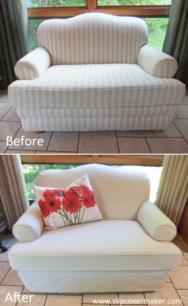 Loveseat Slipcover in Canvas
