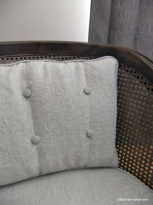 Faux Tufted Cushion Slipcover at Slipcovermaker.com