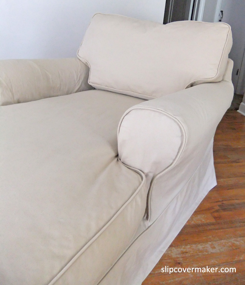 Twill Chaise Slipcover by Karen Powell