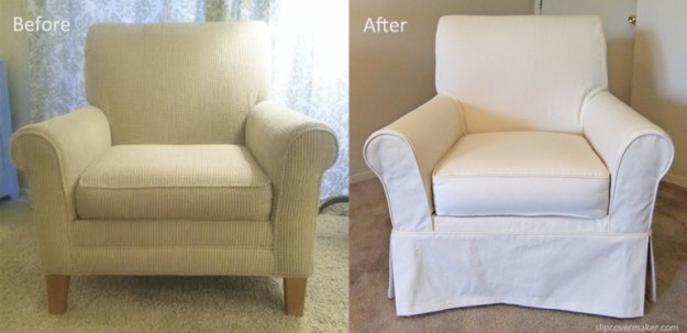Natural Denim Armchair Slipcover