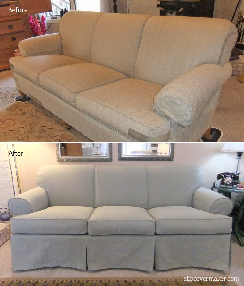 Cotton Poly Canvas Sofa Slipcover by Karen Powell
