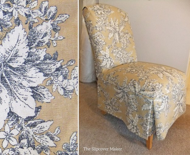 Toile Slipcover for Parsons Chairs