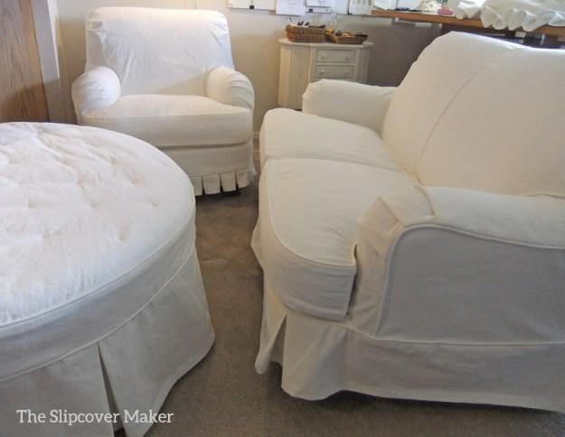 White Denim Slipcovers by Karen Powell