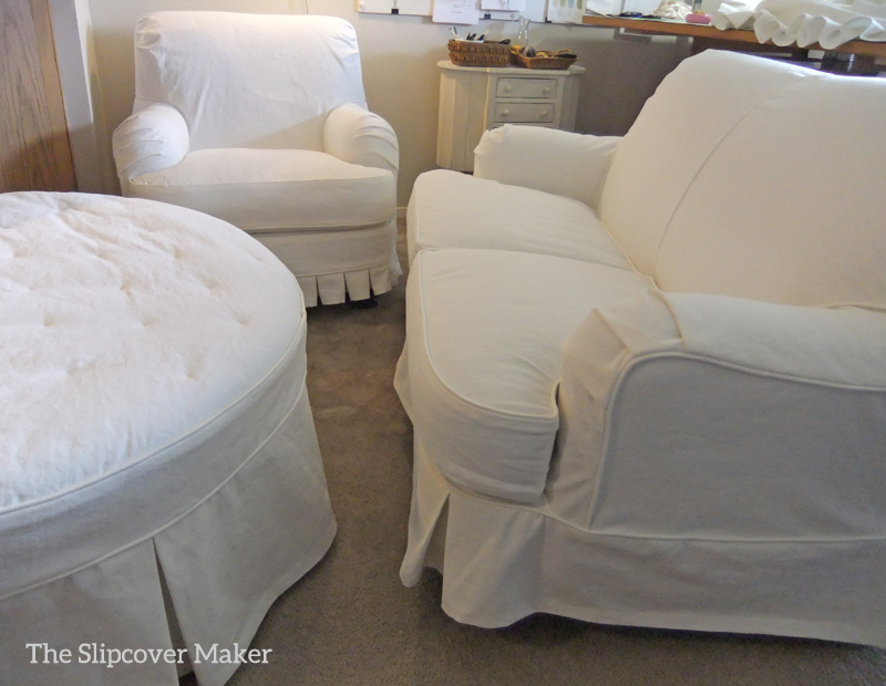 English Rolled Arm Slipcovers In White, English Roll Arm Chair Cover