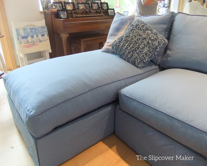 blue canvas slipcover for big sectional