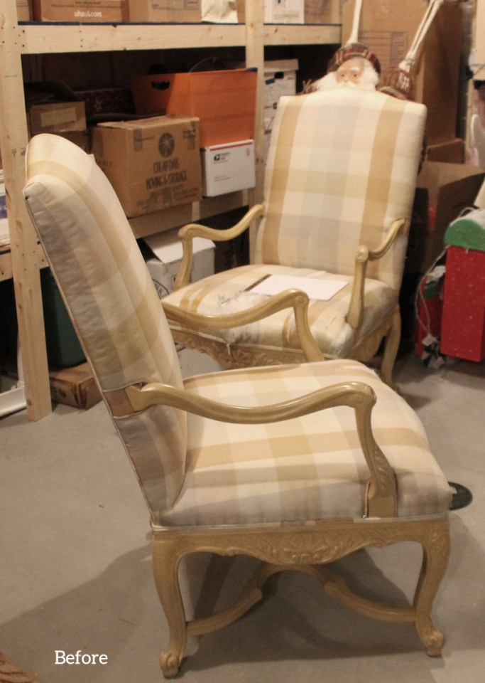 French Chair Before Slipcover