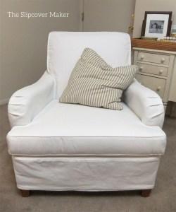 Custom Slipcover in Carr Go Canvas White