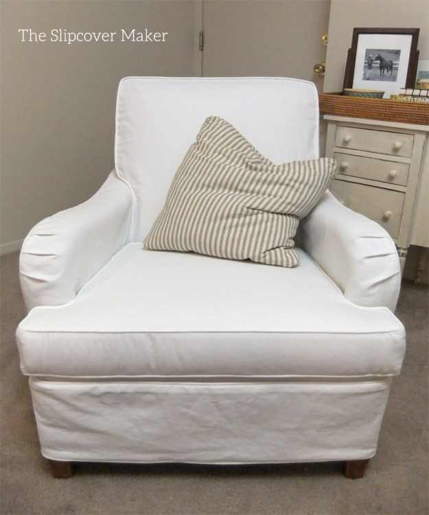 Custom Slipcover in Carr Go Canvas White