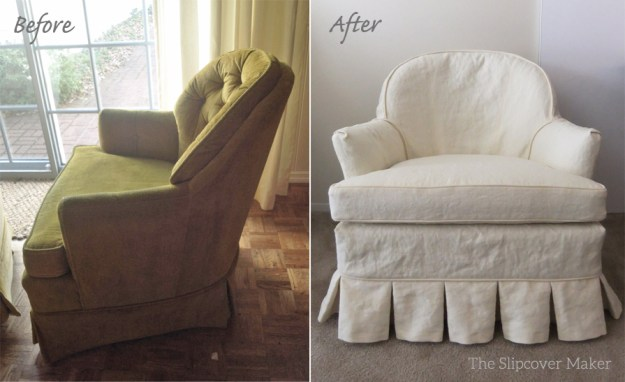 Hemp French Linen Chair Slipcover