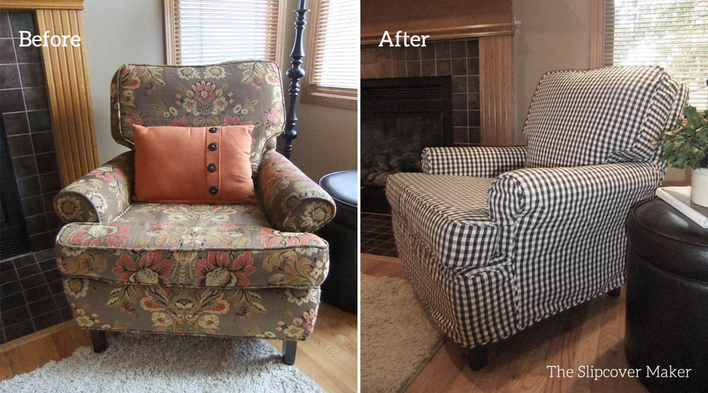 Chester Gingham Chair Slipcover