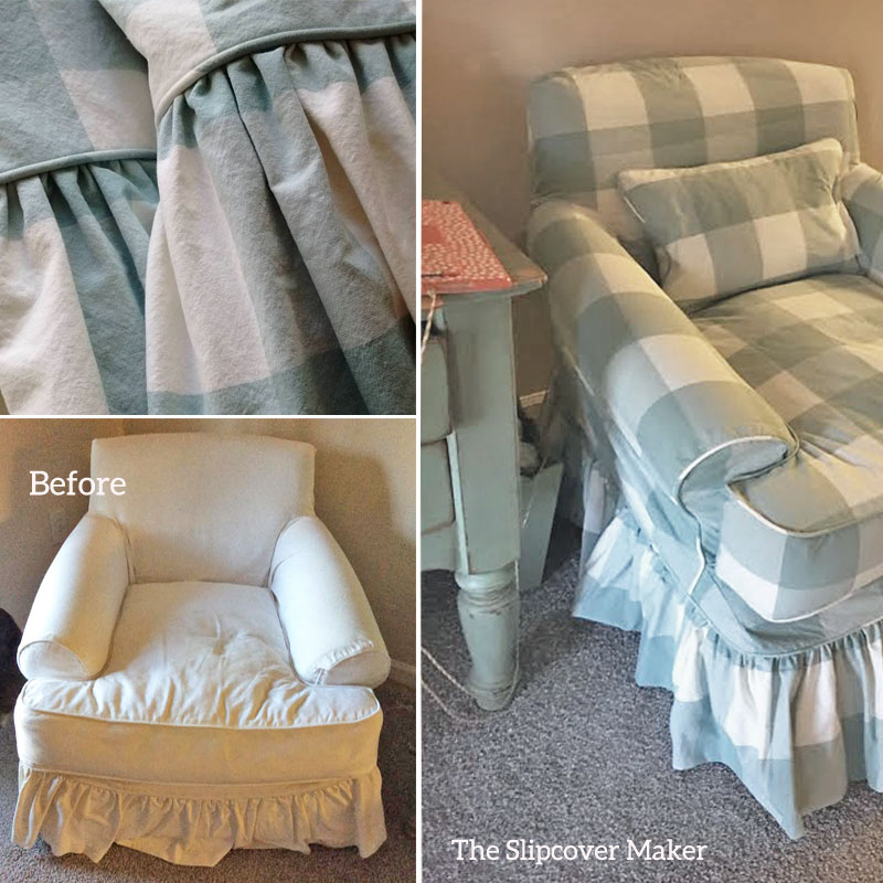 Shabby Chic Chair Slipcover Copy