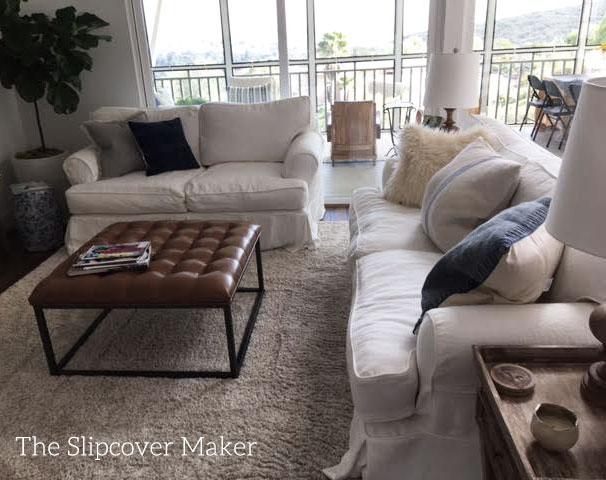 White Linen Sofa Slipcover Copy