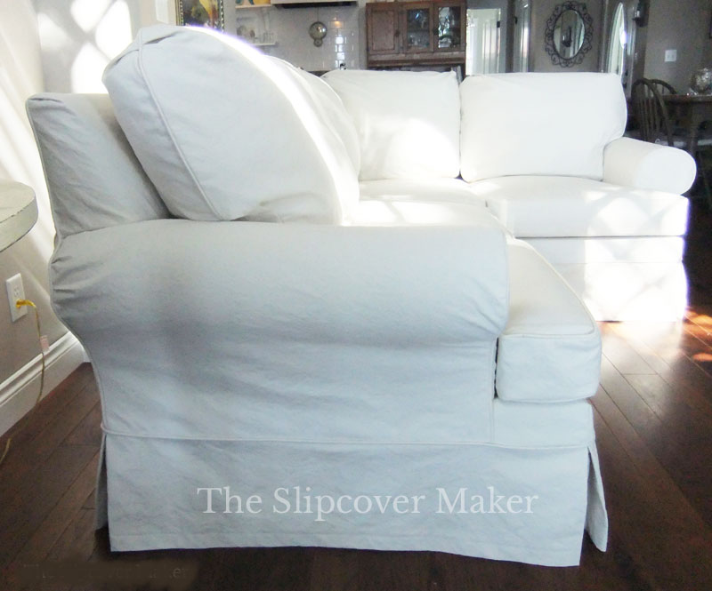Heavyweight White Duck for Sectional Slipcover