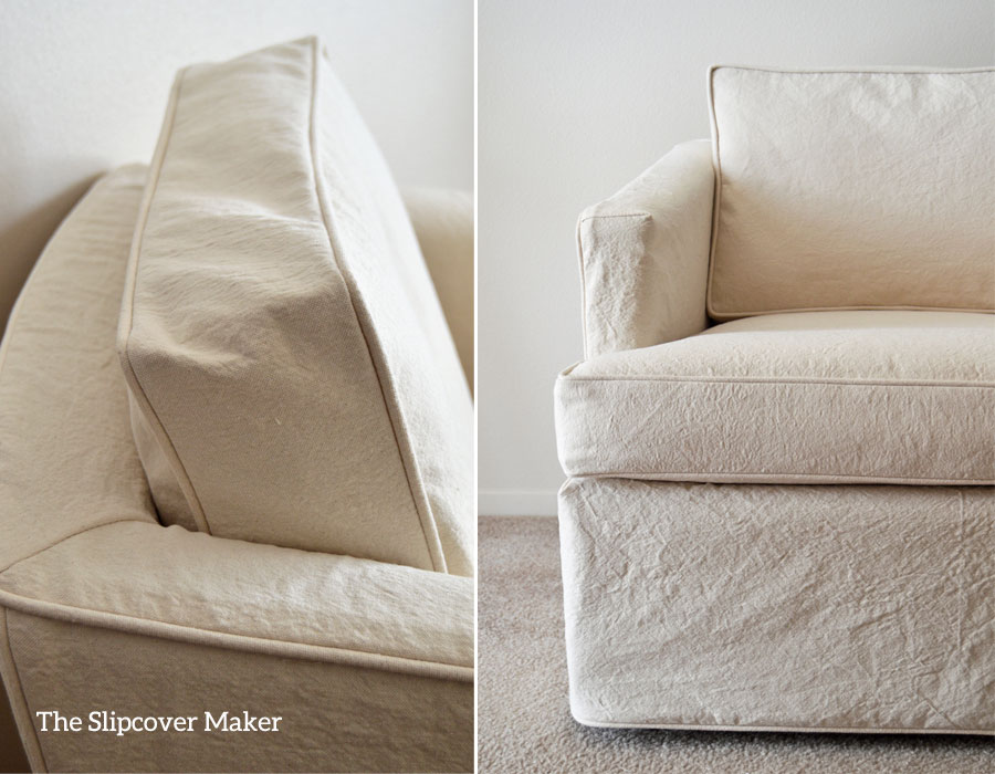 Washed Natural 10 oz. Canvas Slipcover