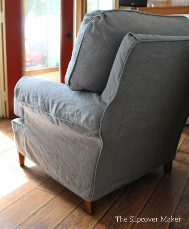 InstaLinen Brazil Blue 5 Linen Chair Slipcover