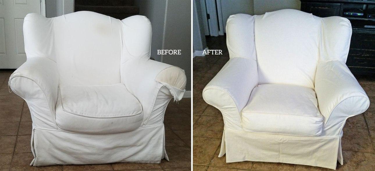 White Denim Slipcover Copy Crate and Barrel