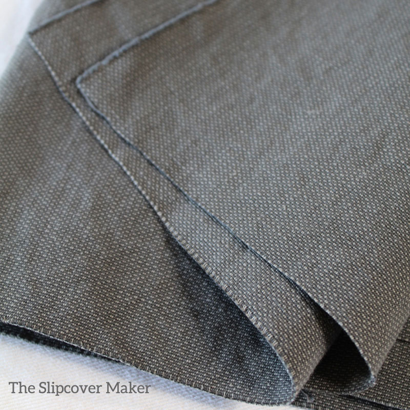 Charcoal Canvas Slipcover Custom-Fit for Pottery Barn Chair