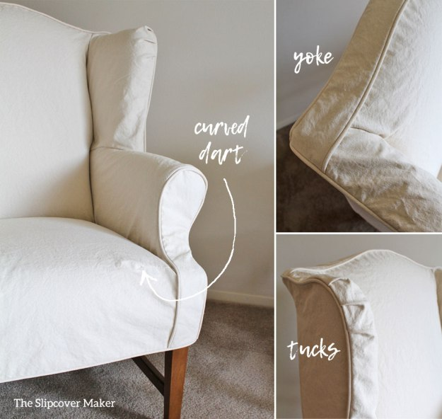 Wing Back Slipcover Details