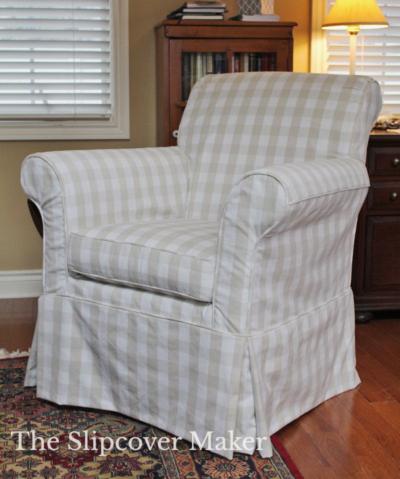 A Check & Stripe Combo for Slipcovers