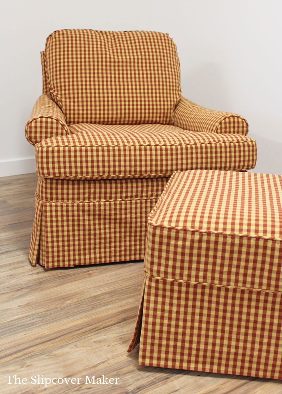 Custom Gingham Slipcovers for Welsey Hall Chair