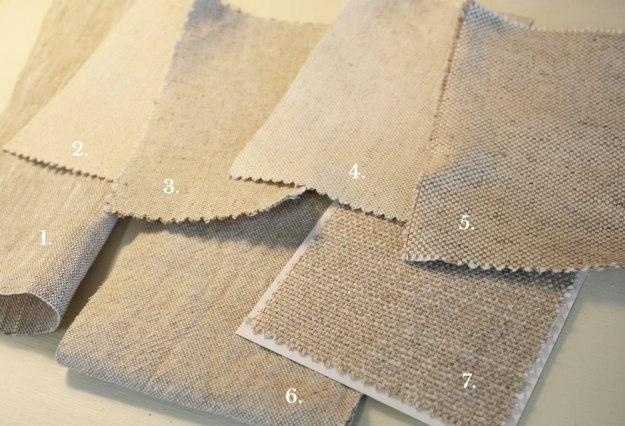 Cotton Linen Oatmeal Home Decor Fabrics