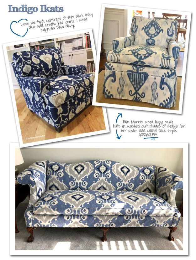 Cotton Ikat Prints for Slipcovers