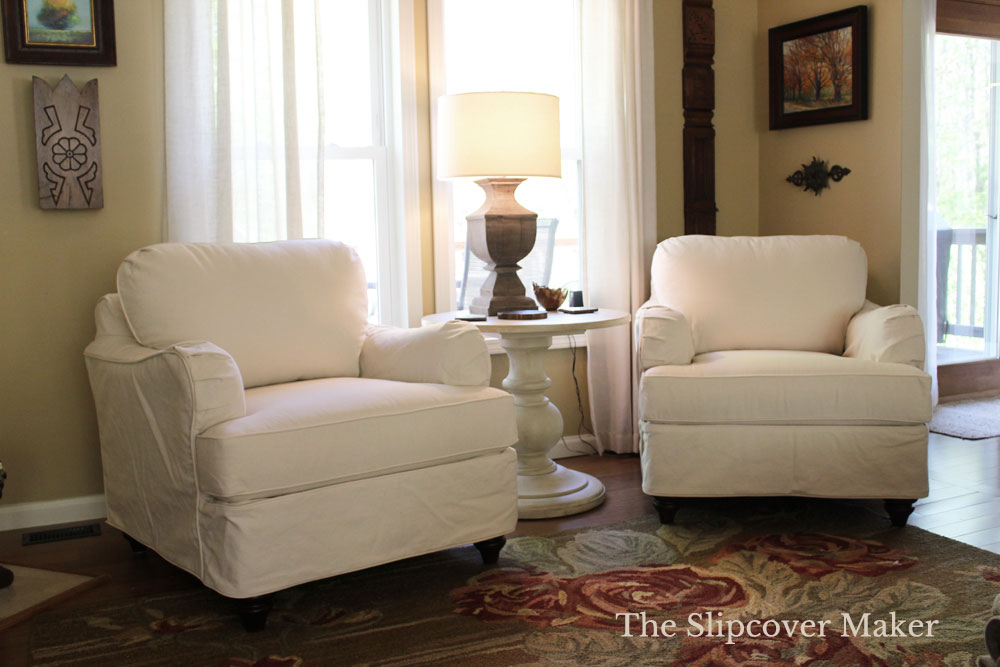 3 Reasons To Slipcover In Summer The, English Roll Arm Chair Cover