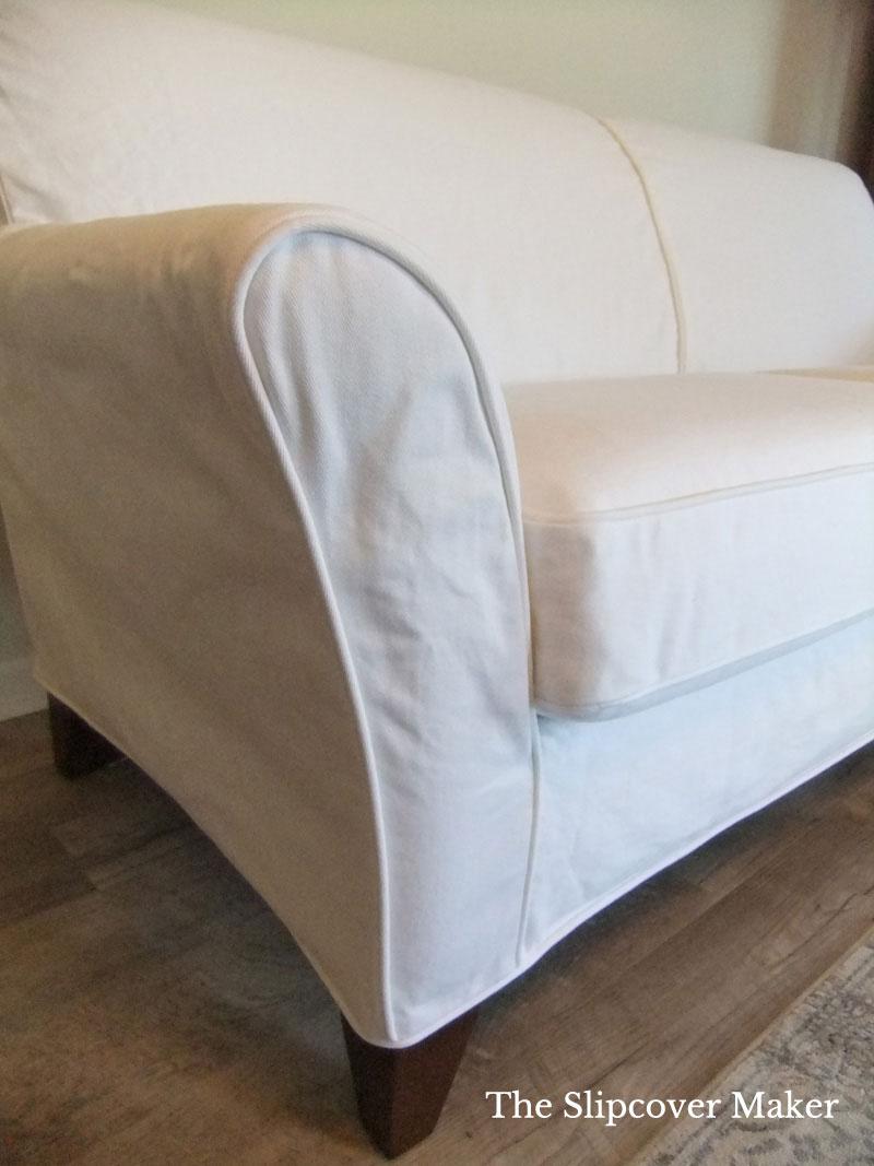 Custom White Denim Slipcover